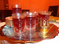 Traditional Azeri tea glasses