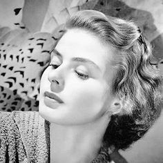 Ingrid Bergman; her nose wasn't so much 'big' as it was 'strong'. Regardless she was gorgeous and they don't make 'em like that anymore!