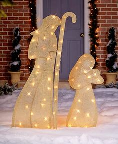 72 pre lit nativity scene clear lights outdoor christmas holiday photos of great christmas outdoor decorations lighted burlap nativity scene mozeypictures Images