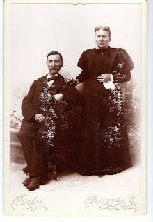 Dr. Bill Tells Ancestor Stories: Wordless (nearly) Wednesday - Michael and Nellie Smith new photo to me
