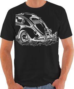 Camiseta Fusca sunroof | Meu Hobbie | Elo7 3d T Shirts, Branded Shirts, Cool T Shirts, Casual Shirts, Mens Fashion Sweaters, Men Sweater, Mens Athletic Fashion, Cycling T Shirts, Bmx