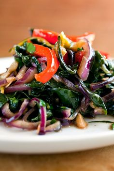 NYT Cooking: This is particularly beautiful if you can find rainbow chard, those multicolored bunches with red, white and yellow stems. Slice the chard crosswise in thin strips. If the pieces are too thick, they'll be tough.