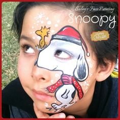 Face painting snoopy