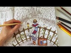 Dream - Part 2   ROMANTIC COUNTRY THE SECOND TALE   Water Reflection Coloring With Colored Pencils - YouTube