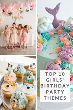 Swan Party Puppy Party Mermaid Party Sports Party Ballerina Party Panda Party Llama Party Unicorn Party Fiesta Party Tropical Party Find TONS of advice and ideas for throwing your perfect party! Girl Birthday Decorations, Girls Birthday Party Themes, 16th Birthday Gifts, 10th Birthday Parties, Little Girl Birthday, Birthday Gifts For Kids, Birthday Ideas, 10 Birthday, Princess Birthday