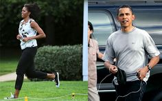 "naturallyhealthy:  ""Barack and I work out every day,"" she [said]. ""I usually get to the gym before he does. But he is usually there either in the middle of my workout or right at the end. And we're watching `SportsCenter' and we're catching up. That's why I know so much about sports … and you start having an opinion about (New York Jets quarterbacks Tim) Tebow and Mark Sanchez."" If she's travelling  Mobama jumps rope or does calisthenics. ""If I don't have a rope or space, I might do a ..."