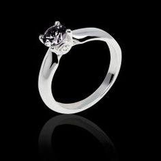 7a178e8d5fe Solitaire diamant noir or blanc Motherhood Bague De Fiançailles Saphir  Rose