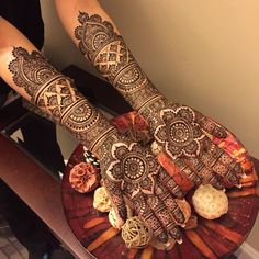 Elaborate Mehndi Design on Arms