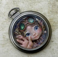 Freckles Steampunk Pocket Watch Myxie by MysticReflections on Etsy