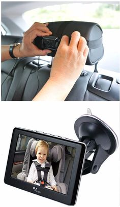 A baby monitor that lets parents keep tabs on their baby without taking their focus from the road.