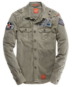 Mens - Delta Shirt in Flatland Grey | Superdry