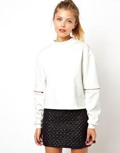 Fall Trend: Sport Chic - Asos zip sleeve sweatshirt