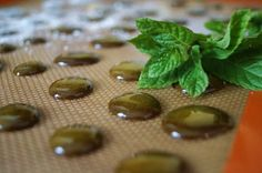 honey mint hard candy drops - made with honey (i will opt for sugar for harder consistence)