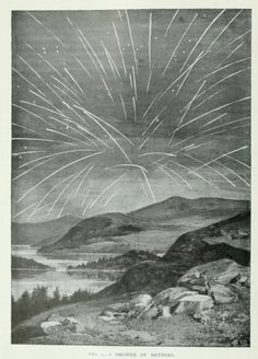 Fig. 1. A shower of meteors.Cassell's popular science. 1900.