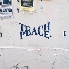 Teach Peace – Graffiti World Urbane Kunst, Beautiful Words, In This World, Wise Words, Typography, Inspirational Quotes, Motivational Quotes, Positive Quotes, Positive Stories
