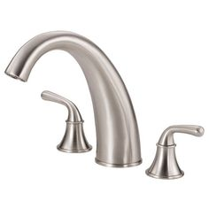Danze D303656BNT Brushed Nickel Deck Mounted Roman Tub Faucet Trim, Bannockburn Collection