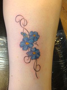78 Best Forget Me Not Tattoo Images Forget Me Not Tattoo Floral