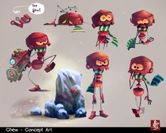 """""""Chew"""" concept art by Ahmad Beyrouthi"""
