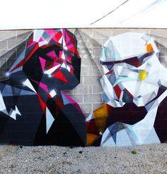 Love Star Wars street art!  Original artist Liam Brazier. Painted by East in Denver Colorado, USA