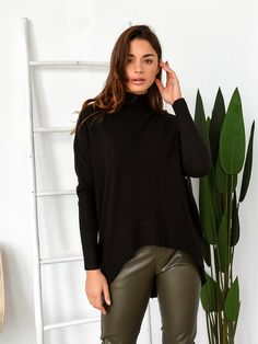 Μπλούζα Πλεκτή Ζιβάγκο Μαύρη - Flexibility Bell Sleeves, Bell Sleeve Top, Turtle Neck, Blouse, Long Sleeve, Sweaters, Shirts, Tops, Women