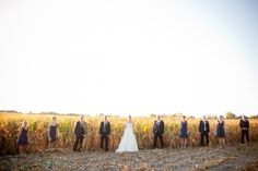 Shay, It seems a lot of people do wedding pictures in corn fields so we were total weirdos tromping through the rows sinking into the ground lmao!!!