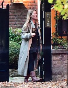 Out and about:Kate Moss, 46, enjoyed some quality family time as she stepped out for a st...