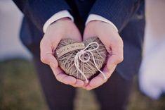 Wedding Ring Pillow/Holder - in WEDDINGS UNVEILED  2013 magazine - reuse as Christmas ornament/keepsake - ORIGINAL design. $18.00, via Etsy.