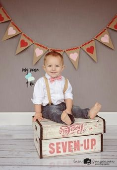 Valentines Bow Tie- Baby Beans and Me (Check out on Facebook)!  Valentine Mini Session- Erin Jorgenson Photography
