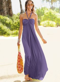 Victoria's Secret Halter Bra Top Maxi Dress
