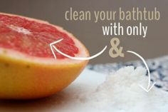 Clean your tub with just two things! #DIY #greenliving #nochemicals