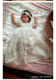 Baptism Dress For Mom, Baby Girl Baptism, Baptism Outfit, Baptism Gown, Christening Cake Girls, Christening Headband, Christian Wedding Gowns, Godmother Dress, Baby Dress Design
