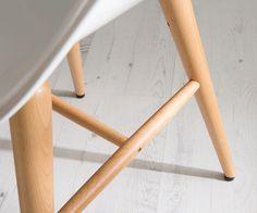 Armlehnstuhl Forum Wood White Holzbeine Buche Esszimmerstuhl Weiss: Amazon.de: Küche & Haushalt