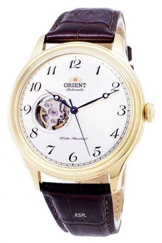 Orient Classic Analog Open Heart Automatic Japan Made Men's Watch White Watches For Men, Orient Watch, Watch Sale, Stainless Steel Case, Jewels, Classic, Leather, Accessories, Heart