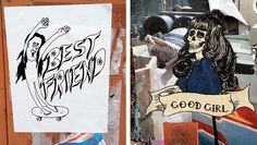 """Would you want a """"best friend"""" or a """"good girl"""" who looks like these #streetart characters?"""