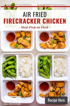 Air Fryer Firecracker Chicken - Meal Prep on Fleek™