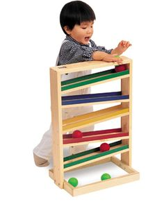 We have one of these at church (pvc pipes halved) and the kids love it!