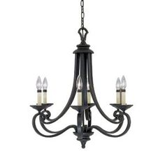 Designers Fountain, Monte Carlo 6-Light Hanging Natural Iron Chandelier, HC0366 at The Home Depot - Mobile