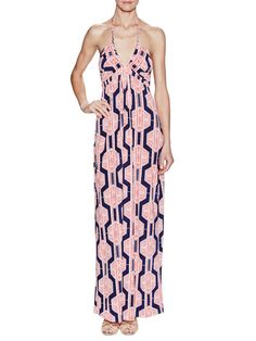 Braided Halter Maxi Dress by TBags Los Angeles at Gilt