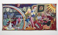 From 'The Vanity of Small Differences' By Grayson Perry. Expulsion From Number 8 Eden Close Grayson Perry tapestry.saw this at Croome Park. Grayson Perry Tapestry, Little England, Francis Picabia, Memento, Art Fund, Art Textile, Gcse Art, Human Condition, The Guardian