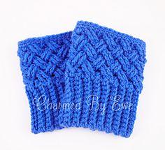Free Crochet Boot Cuff Socks Patterns Aislinn Celtic Dream Boot Cuffs Crochet Pattern Charmed By Ewe Crochet Boots, Crochet Gloves, Crochet Slippers, Crochet Beanie, Crochet Stitches, Crochet Patterns, Crochet Ideas, Knitting Patterns, Crochet Boot Cuff Pattern
