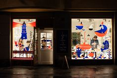 Window display and illustration for Kauniste. Leena Kisonen, Krista Kärki and Anna Sofia Vuorinen