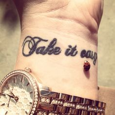 The most meaningful tattoo I've ever gotten. #takeiteasy #ink #tattoo