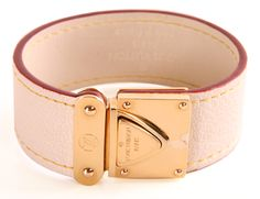 LOUIS VUITTON WHITE BUCKLE BRACELET
