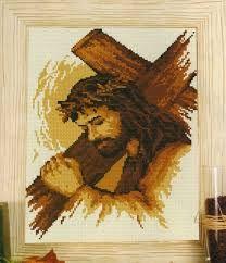 Resultado de imagen para rostro de cristo en punto cruz