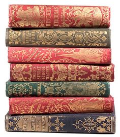 "Attractive publishers cloth bindings with gilt detailing late 1840s early 1850s. These volumes are less then 100mm [4""] in height"