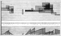 Graphic notation of Studie II (1954) by Karlheinz Stockhausen.
