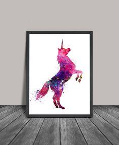 Unicorn Art Watercolor Print Watercolor Art by FineArtCenter