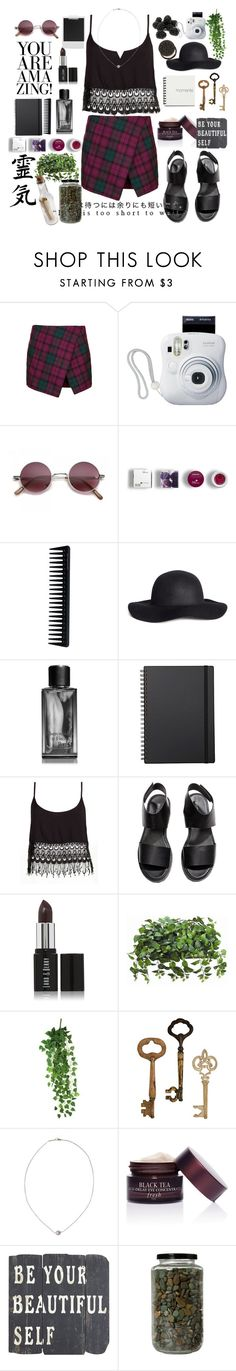 """""""going out"""" by elle01-1 ❤ liked on Polyvore featuring Topshop, Polaroid, Fujifilm, Korres, GHD, H&M, Abercrombie & Fitch, Muji, Lucy Love and Lord & Berry"""