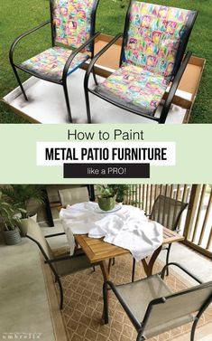 35 best painted patio furniture images colorful furniture rh pinterest com
