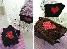 Schokokuchen mit Herz Rezept eingesendet von: Heike  #Schokolade #Kuchen